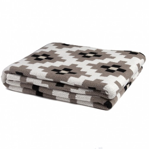 eco dot matrix throw blanket