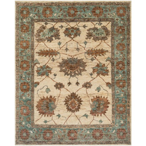 empress collection ivory & aqua rug