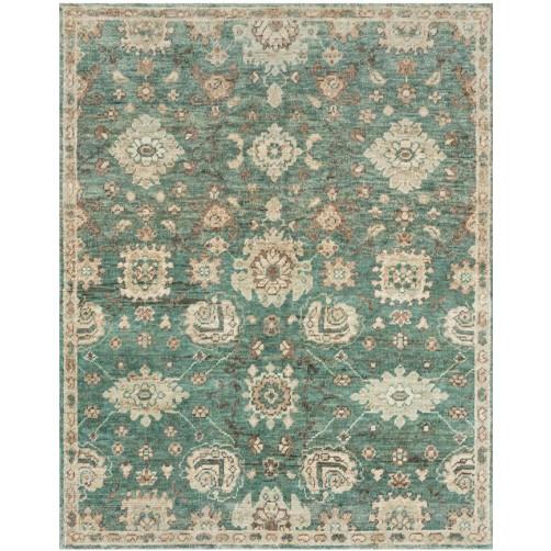 empress collection aqua & beige rug