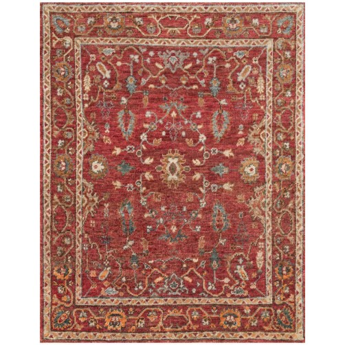 empress collection red rug