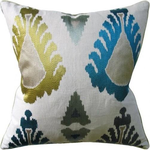 exuberance teal pillow