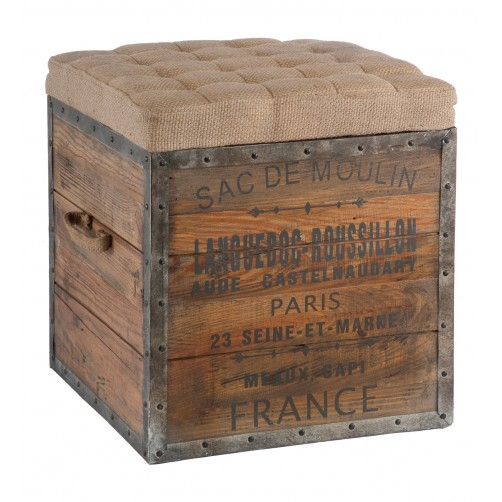 aidan gray the sac de moulin wood cube ottoman