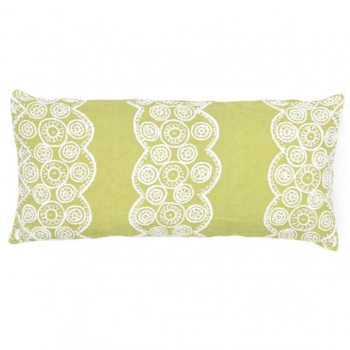 pine cone hill french knot citrus decorative pillow double boudoir