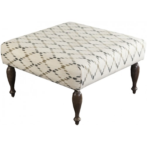 surya ottoman, ivory, charcoal and olive