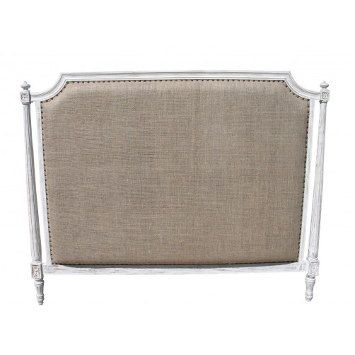 noir isabelle white wash headboard