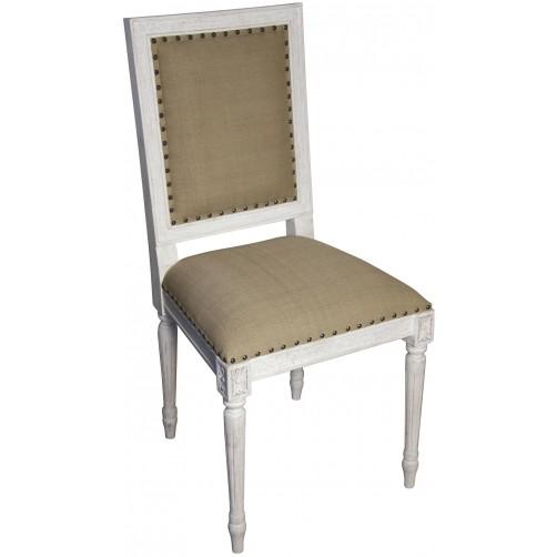 noir regency side chair