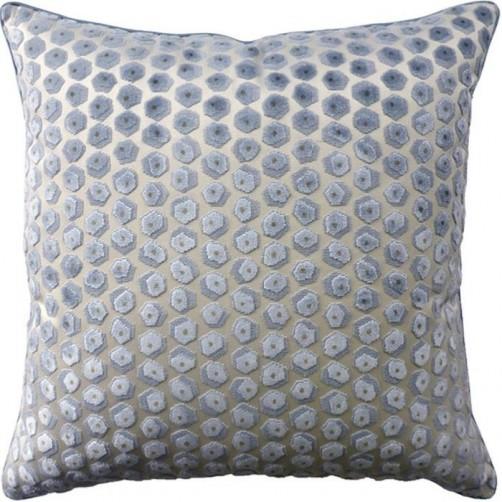 gem velvet aqua pillow