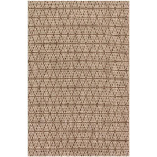 isle collection beige & mocha polypropylene rug