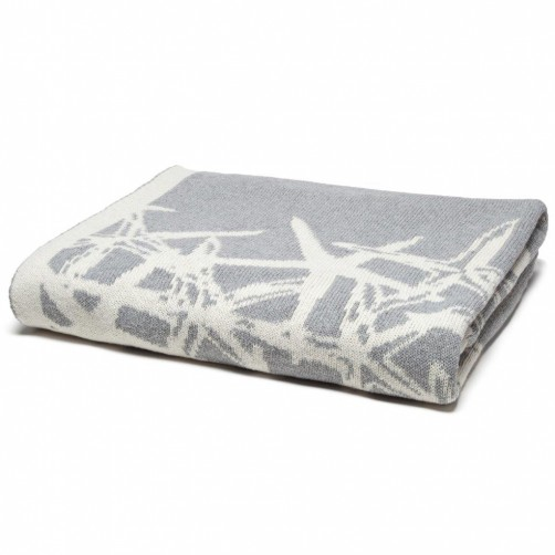 eco tumbling starfish reversible throw blanket aluminum