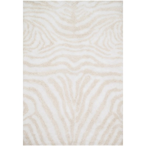 kiara shag collection ivory & cream rug