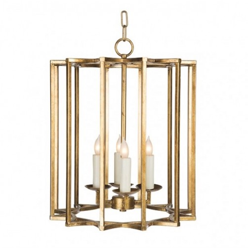 aidan gray chan geo chandelier, look #2, small, gold