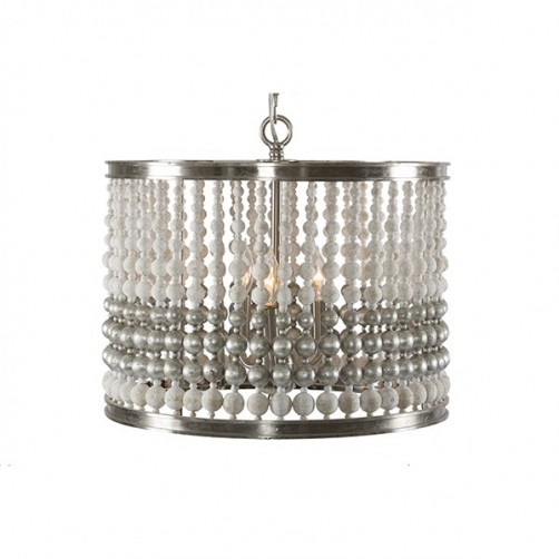 aidan gray barrel small, silver chandelier
