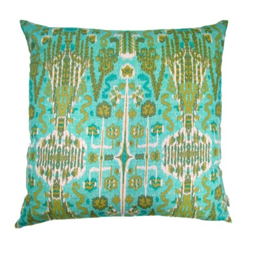 lacefield bombay aqua pillow with knife edge