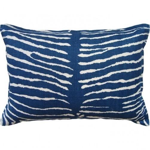 le zebre indigo bolster pillow