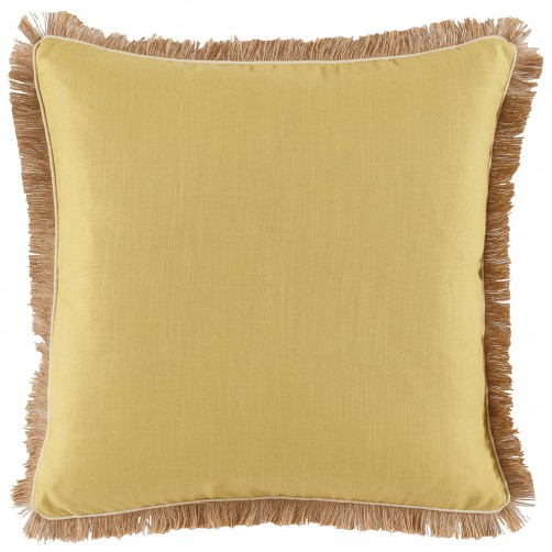 lacefield lemongrass linen pillow with eggshell pipe and jute fringe