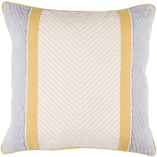 surya leona beige & grey pillow