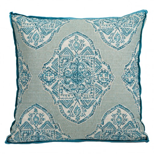 lacefield malta capri pillow with trevi capri gusset and plasma linen flange