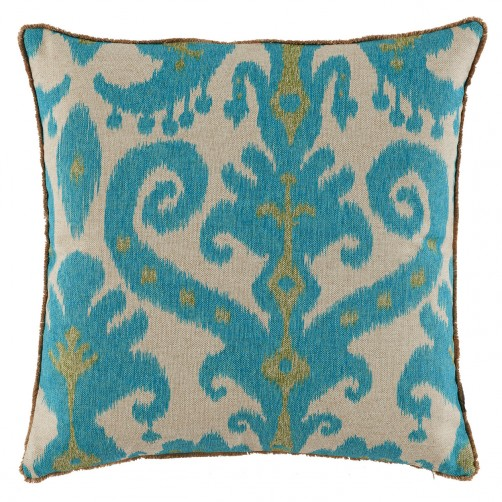 lacefield marrakesh lagoon pillow with eyelash trim