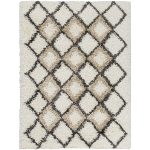 surya mercer area rug, ivory and charcoal