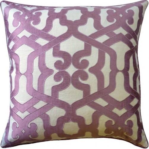 modern elegance orchid pillow