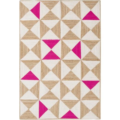 surya molino area rug, pink