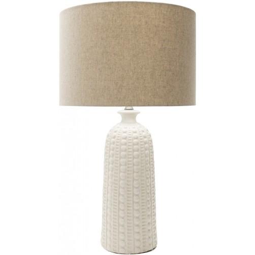 surya newell white table lamp