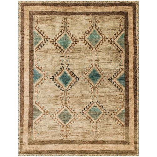 nomad collection aqua & beige rug