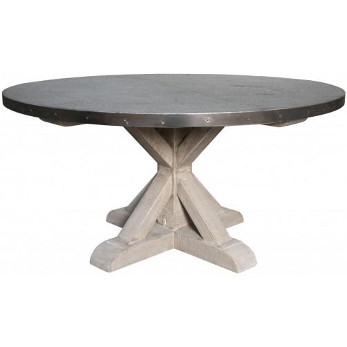 noir zinc top round table