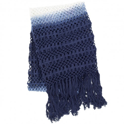 pine cone hill ombre crochet indigo throw blanket