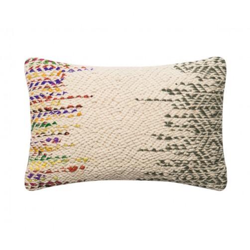 dhurri style chevron diamond bolster pillow