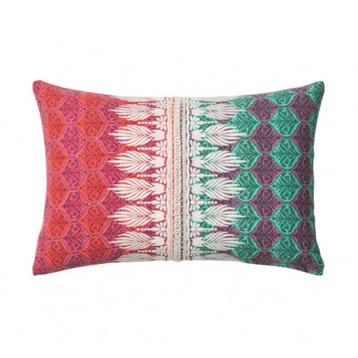 morocco pink & green embroidery pillow