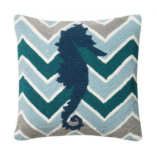 seahorse chevron pillow