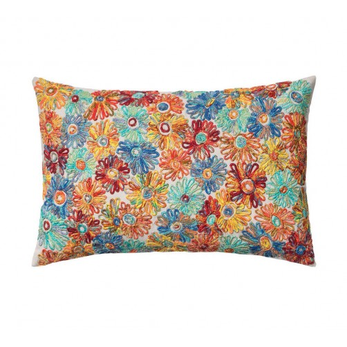 abstract floral pillow
