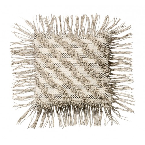 diagonal stripe fringe pillow