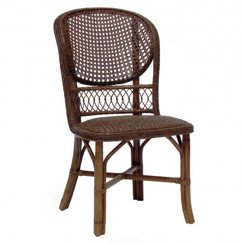 palecek antique cane side chair