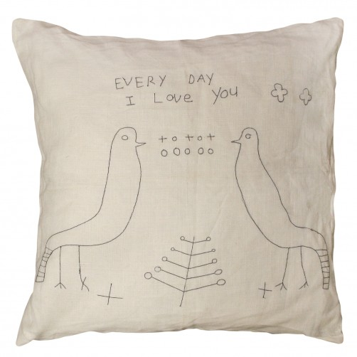 everyday i love you 2 birds pillow