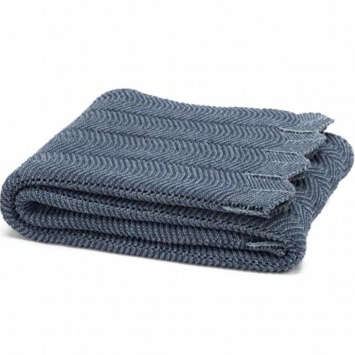 eco pointelle throw blanket slate