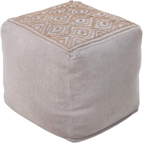 surya atlas pouf in medium gray