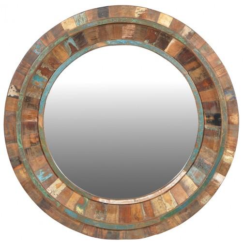 nantucket style round mirror