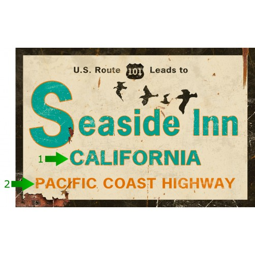 seaside inn customizable sign