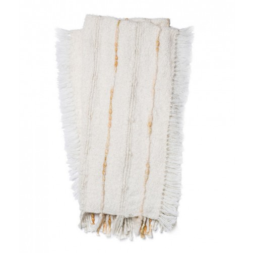 aida collection ivory throw blanket
