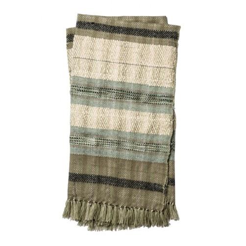 iris collection grey & ivroy throw blanket