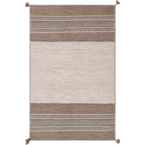 surya trenza area rug, seal brown