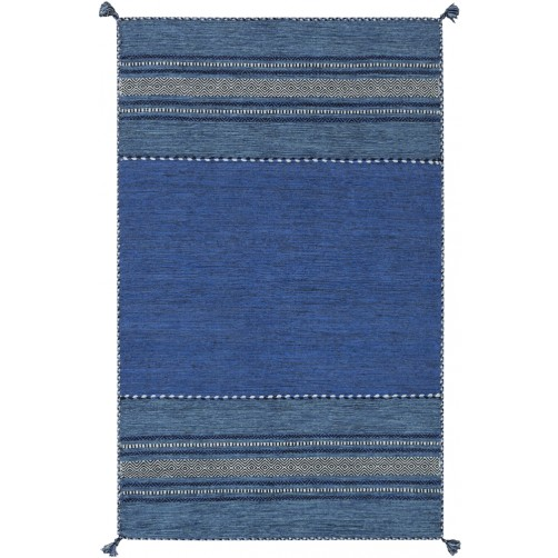 surya trenza area rug, cobalt