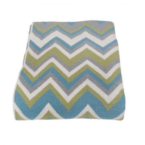 eco zigzag throw blanket