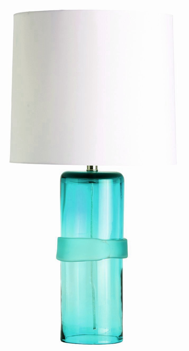 Arteriors Topher Aqua Table Lamp