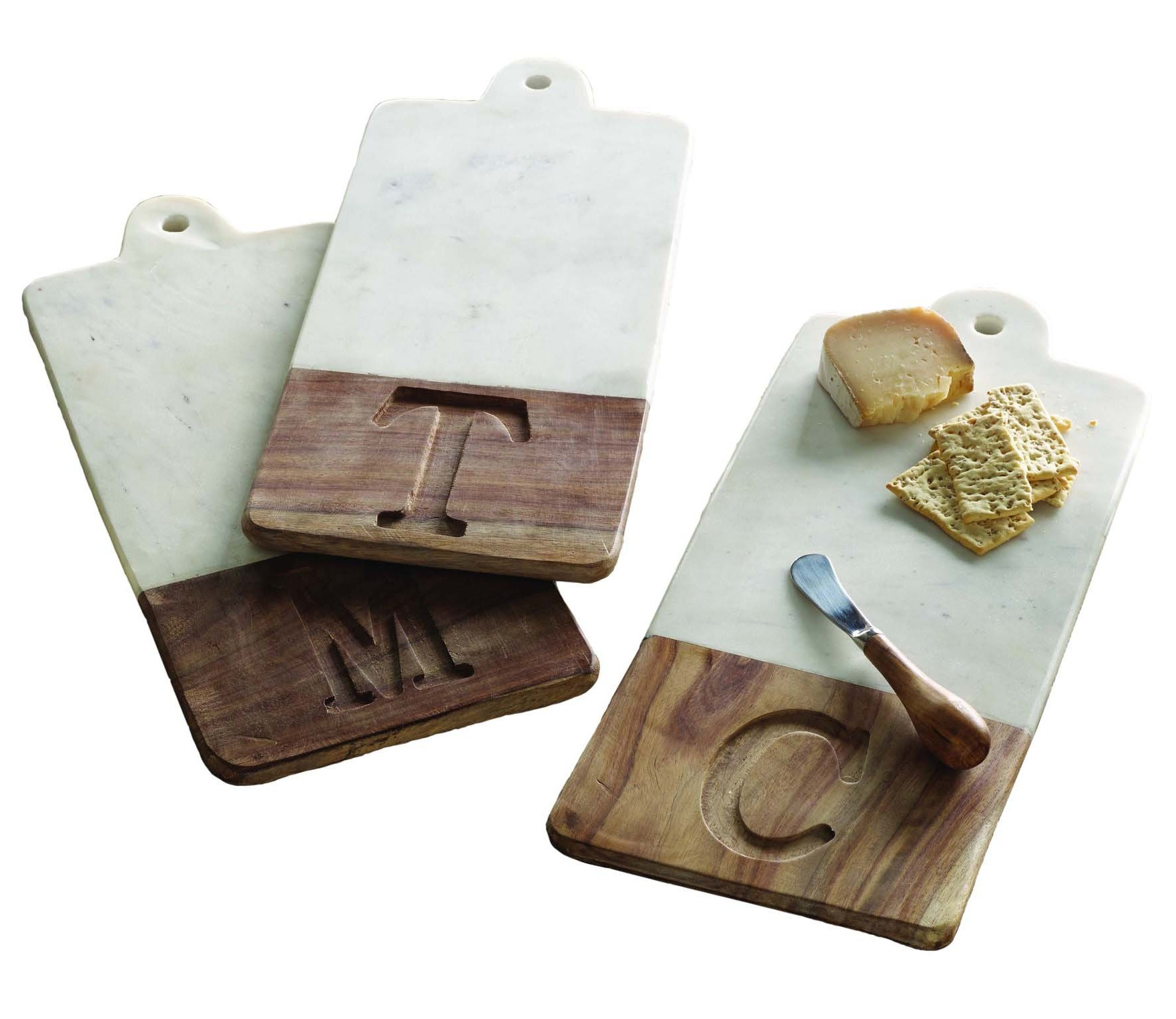 mud pie lettered marble  wood cutting board  tuvalu coastal home, Kitchen design