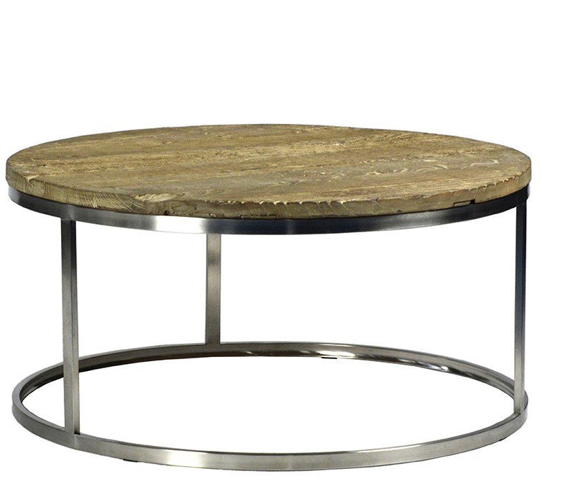 Perfect Round Chrome Coffee Table
