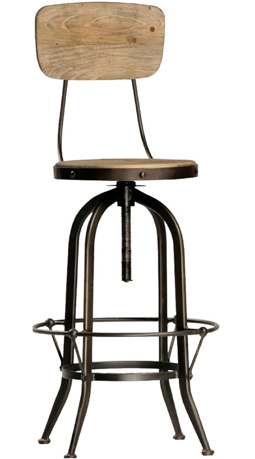 Ford Bar Stool With Back
