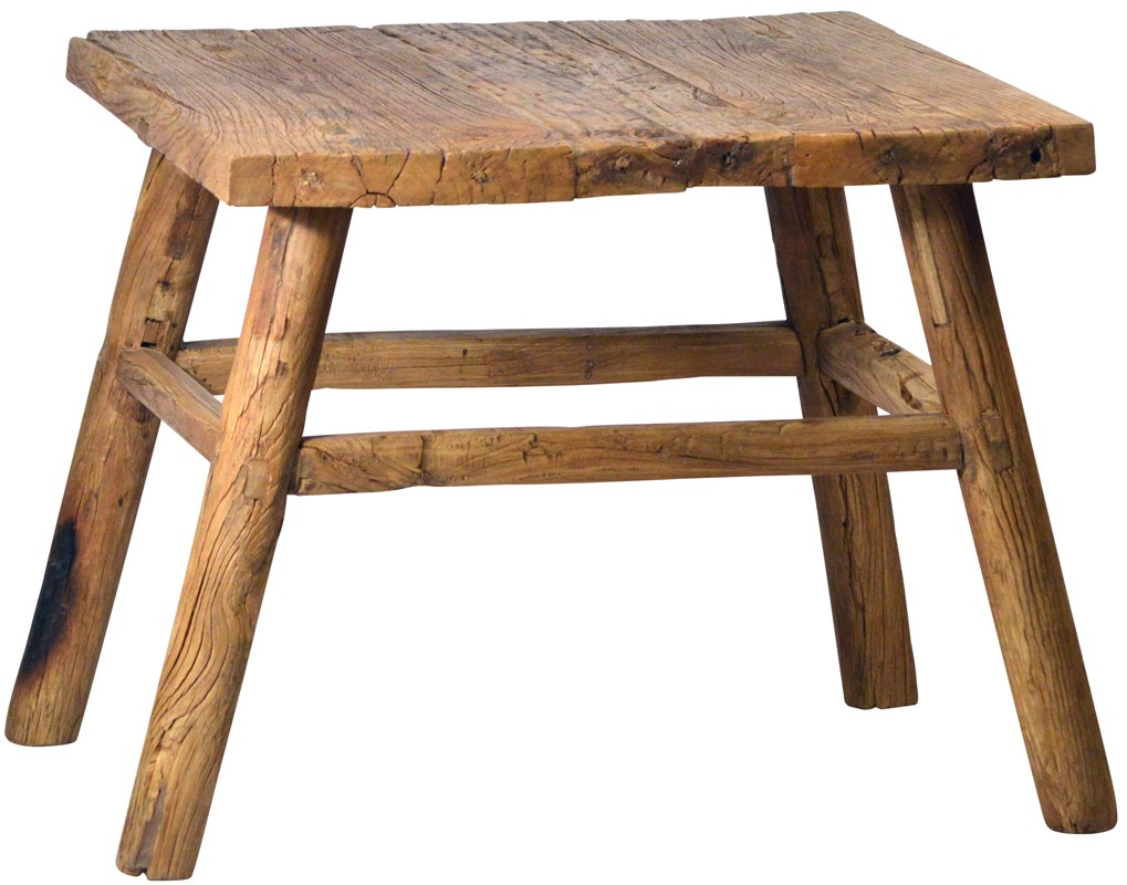 Antique square side table - Antique Square Wood Side Table